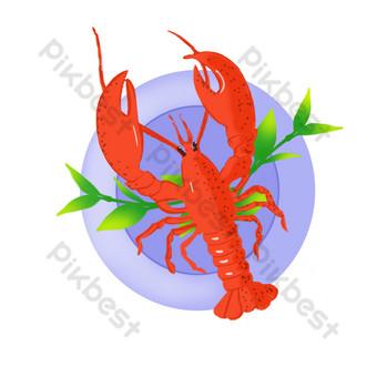 Shrimp shrimp rice prawn shrimp plate Chinese food PNG Images Template PSD