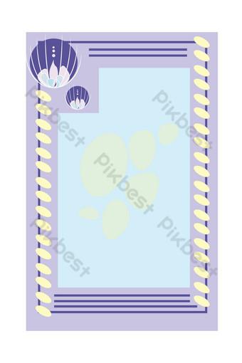 simple y lindo borde de papel de carta sombreado amor Elementos graficos Modelo PSD