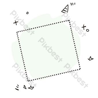 簡約清新風格邊框紋理便條紙2 元素 模板 PSD