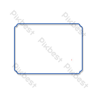 簡單的藍色邊框 元素 模板 PSD