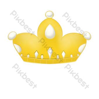 simple corona de oro icono png dibujo libre Elementos graficos Modelo PSD