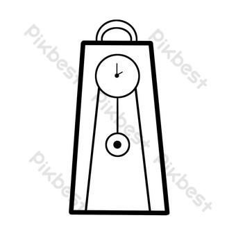 icono de reloj de péndulo de línea simple Elementos graficos Modelo PSD