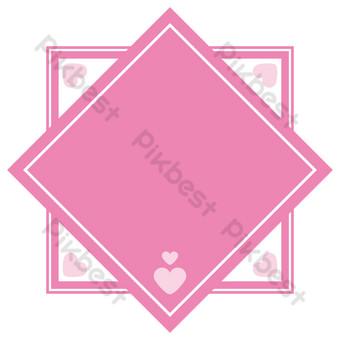 vector de frontera de amor salvaje rosa simple gratis Elementos graficos Modelo AI