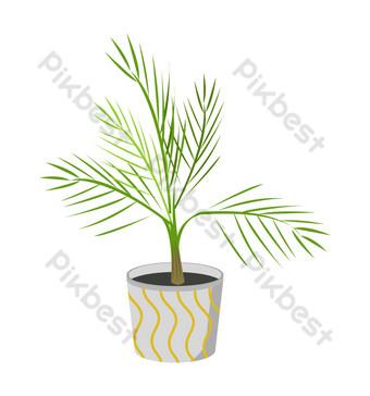 ilustración de planta en maceta simple Elementos graficos Modelo AI