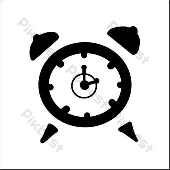 icono de reloj de repetición simple Elementos graficos Modelo PSD