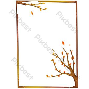 borde de rama de árbol simple Elementos graficos Modelo PSD