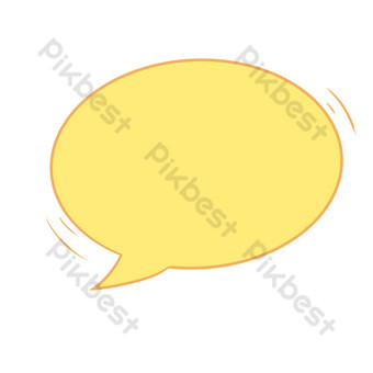Simple yellow dialog box border PNG Images Template PSD