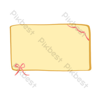 Simple yellow free button border PNG Images Template PSD