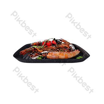 Simulation seafood barbecue png illustration PNG Images Template PSD
