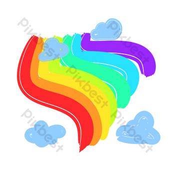 cielo colorido arcoiris Elementos graficos Modelo PSD