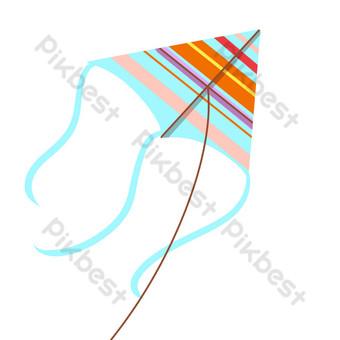 طائرة ورقية صغيرة خطوط أفقية جديدة التوضيح صور PNG قالب PSD