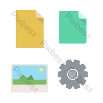 pequeño elemento de icono fresco Elementos graficos Modelo PSD