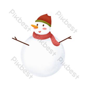 diseño de elemento de invierno de muñeco de nieve sonriente Elementos graficos Modelo PSD