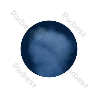 composición de círculo de palabra general de humo Elementos graficos Modelo PSD