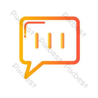 رمز الرسائل القصيرة صور PNG قالب AI