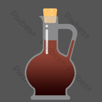 Soy sauce bottled seasoning PNG Images Template PSD