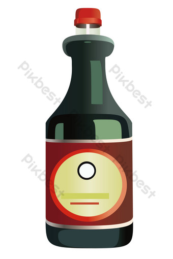 Soy sauce delicious seasoning PNG Images Template AI