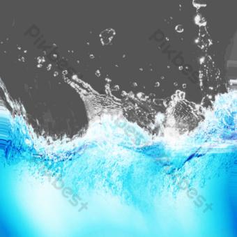 Splash, sea wave, water splash PNG Images Template PSD