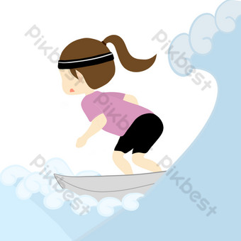 Sport life sea surfing PNG picture PNG Images Template PSD