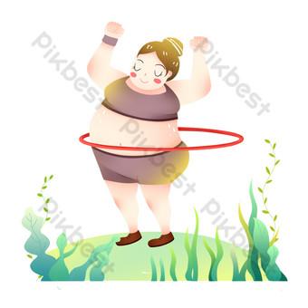 الحياة الرياضية فات فتاة اللياقة البدنية حولا هوب صور PNG قالب PSD