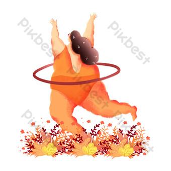 الرياضة الحياة الدهون فتاة حولا هوب صور PNG قالب PSD