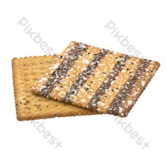 Square sesame cake PNG Images Template RAW