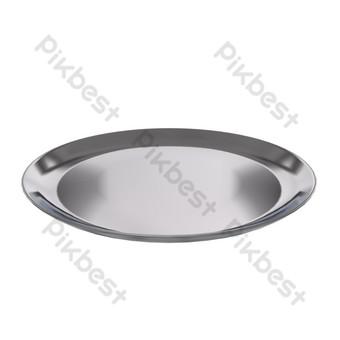 placa redonda de acero inoxidable Elementos graficos Modelo C4D