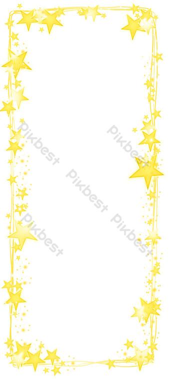星型文字方塊 元素 模板 PSD