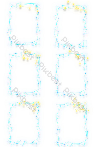 Starry twelve constellation series border PNG Images Template PSD