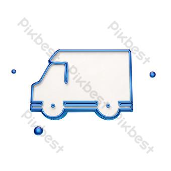 icono de camión de caja estéreo Elementos graficos Modelo PSD