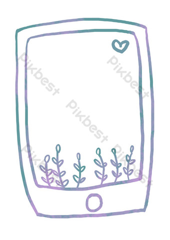 Stereo screensaver border illustration PNG Images Template PSD