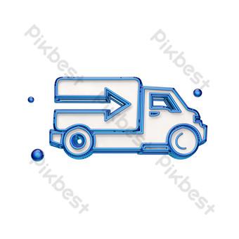 icono de camión estéreo Elementos graficos Modelo PSD