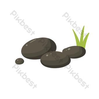 نمط الديكور الحجر الحجر الرمادي صور PNG قالب PSD