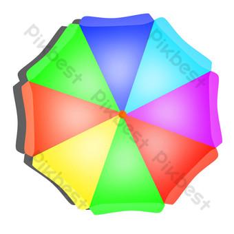 عنصر الصيف مظلة الشمس مظلة عطلة شاطئ البحر مظلة كبيرة بابوا نيو غينيا الحرة صور PNG قالب PSD