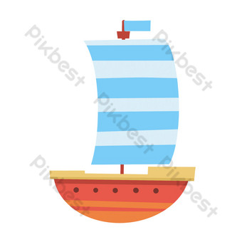 Summer sea sports sailing PNG Images Template PSD