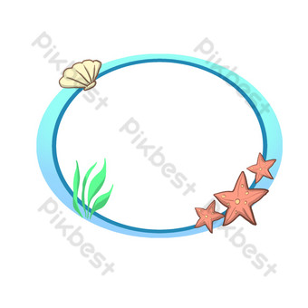 Summer seashell PNG Images Template PSD