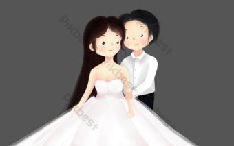تاناباتا عيد الحب موضوع الزفاف التوضيح رائعة صور PNG قالب PSD