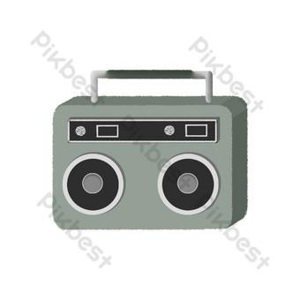 profesor objeto radio retro Elementos graficos Modelo PSD