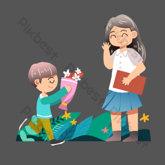 Teacher's day send flowers to teachers PNG Images Template PSD