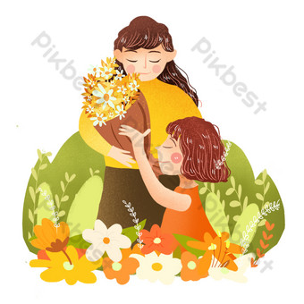Teachers day send flowers to teacher png PNG Images Template PSD