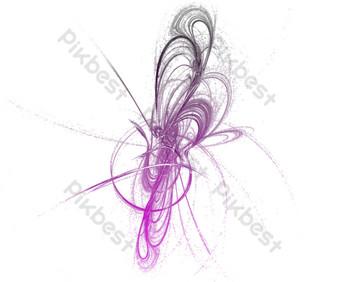 tecnología retorcida brillante púrpura gris radiación png mapa libre Elementos graficos Modelo PSD