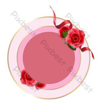 Décoration de bordure de fleur de carte de Thanksgiving Éléments graphiques Modèle AI