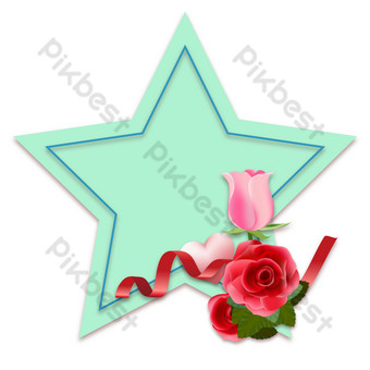 Décoration de carte de voeux étoile à cinq branches de Thanksgiving Éléments graphiques Modèle AI