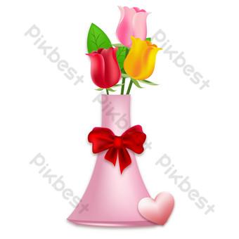 Décoration de carte de voeux de vase de fleur de Thanksgiving Éléments graphiques Modèle AI