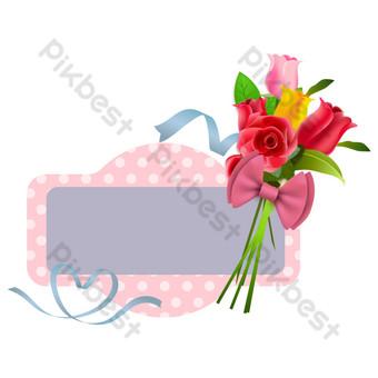 Décoration de bordure de carte de voeux de fleurs de Thanksgiving Éléments graphiques Modèle AI