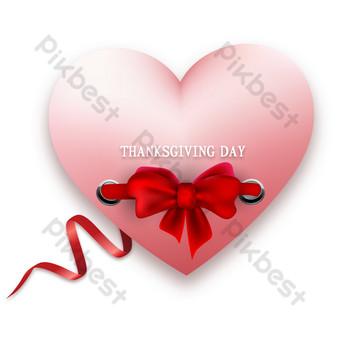Décoration d'invitation de carte de voeux d'amour de Thanksgiving Éléments graphiques Modèle AI