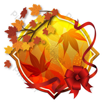 Décoration de bordure de carte de voeux de feuille d'érable de Thanksgiving Éléments graphiques Modèle AI