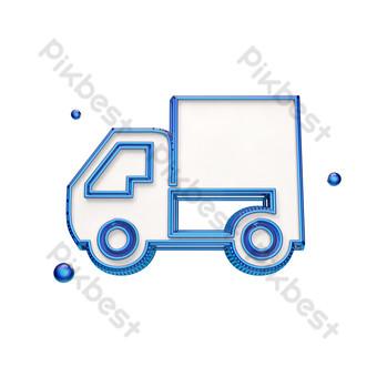 icono de camión creativo tridimensional Elementos graficos Modelo PSD