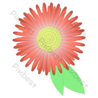 papel tridimensional cortado pequeña flor roja vector libre png Elementos graficos Modelo AI