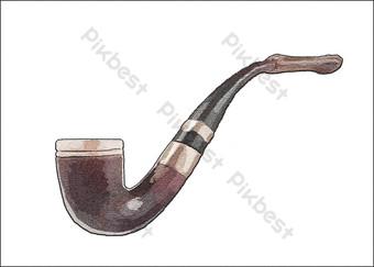 pipa de tabaco, retro, vendimia, objeto Elementos graficos Modelo PSD